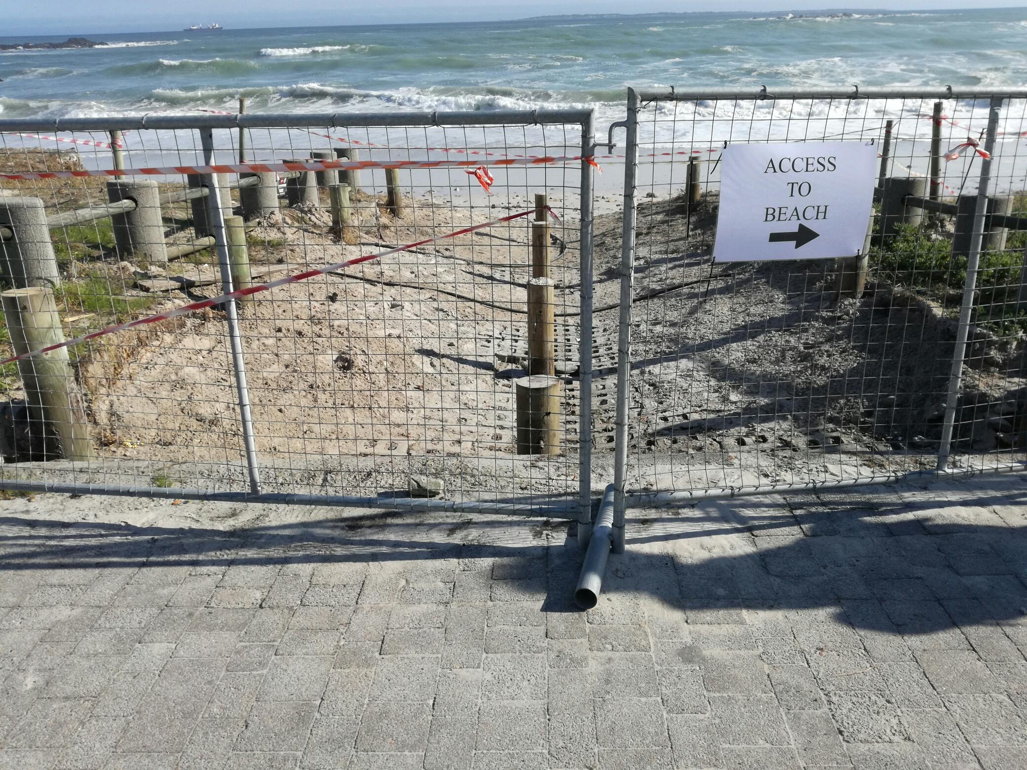 Notice Big Bay Beach Access